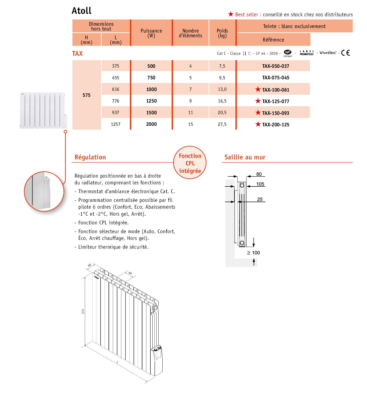 radiateur acova atoll beautiful fabulous radiateur a. Black Bedroom Furniture Sets. Home Design Ideas