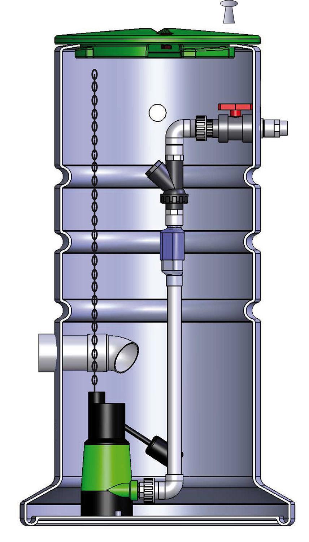 Poste de relevage pour eaux claires et eaux uses ALTIBOX 600