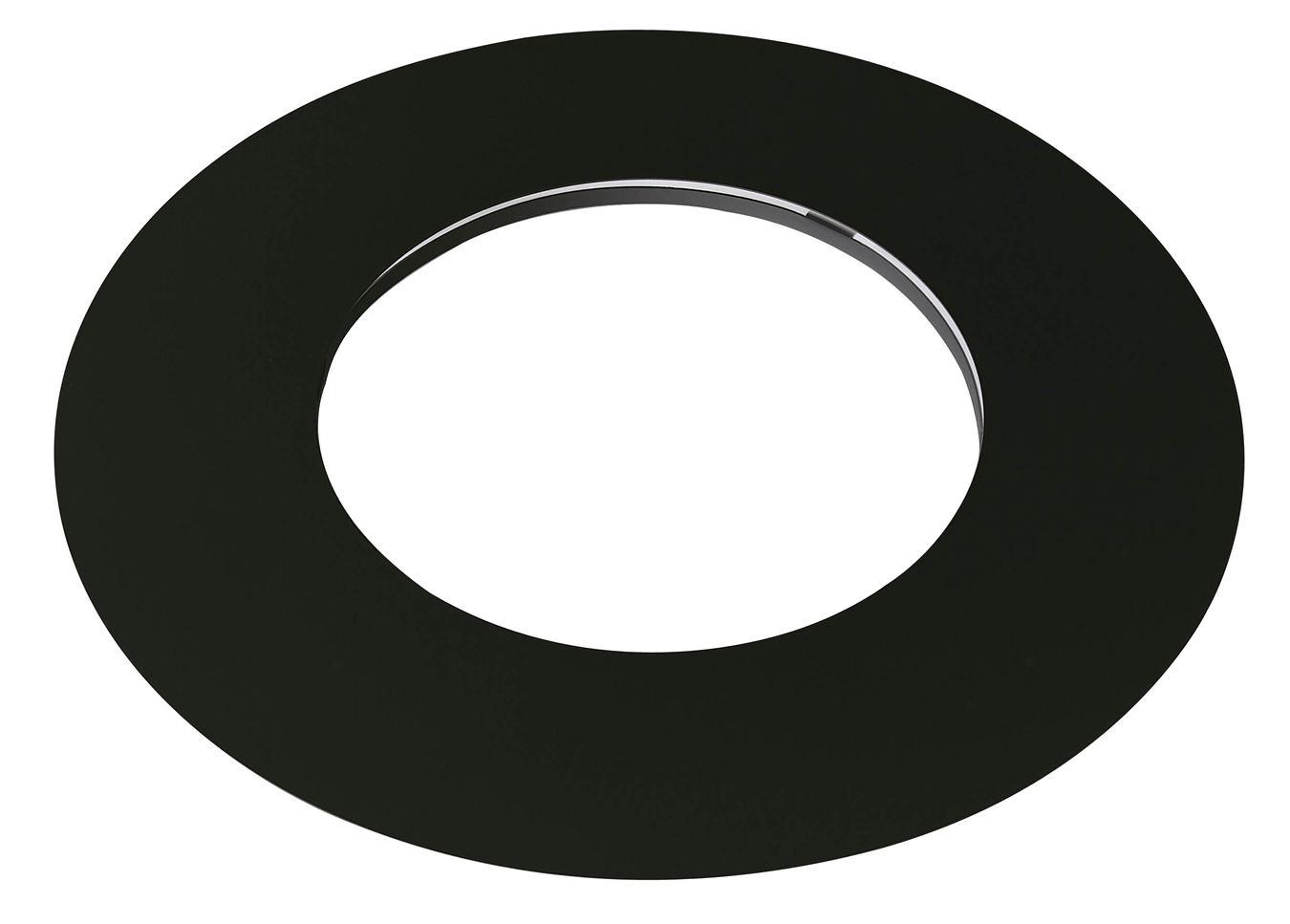 Elment droit de finition plafond inox galva noir pour pole for Finition plafond poele a bois