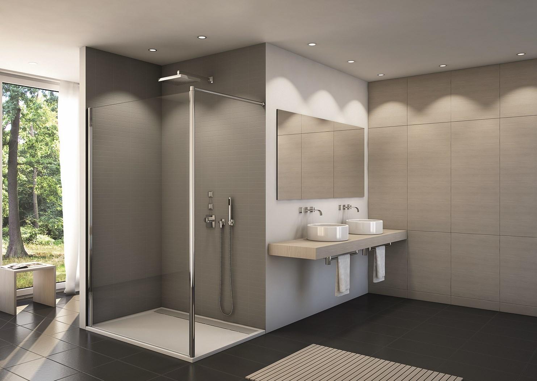 Paroi de douche fixe fun2 verre paisseur 6 mm - Porte de douche avec paroi fixe ...