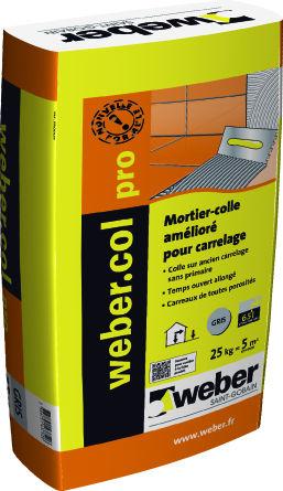 colle carrelage weber pro construction maison b ton arm. Black Bedroom Furniture Sets. Home Design Ideas