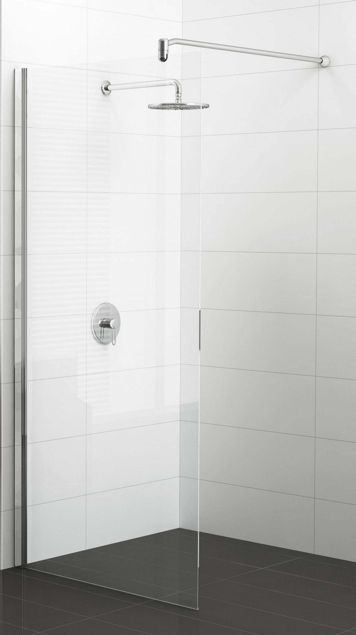 paroi de douche fixe adesio verre paisseur 6 mm