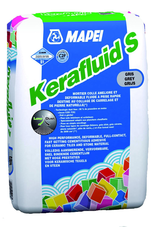 Mortier colle dformable pour carrelage c2 kerafluid s for Colle carrelage mapei
