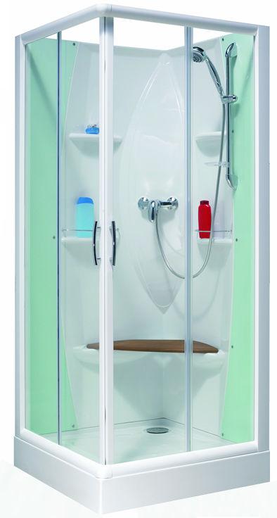 Kinedo cabine de douche nouvelle espace carre 80 x 80 cm - Cabine de douche petit espace ...