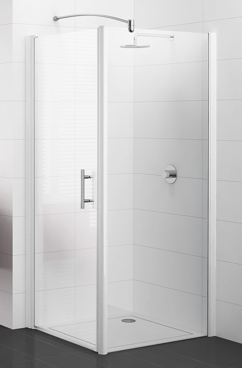 paroi de douche fixe non cadree avec barre stabilisatrice