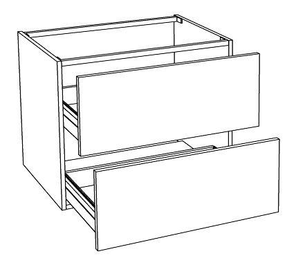 Meuble sous vasque loft 2 tiroirs de 70 cm for Meuble sous vasque 70 cm