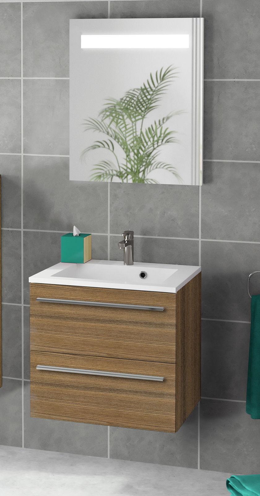 Meuble sous vasque 2 tiroirs 60 cm srie adesio 3 for Meuble sous vasque 60 cm