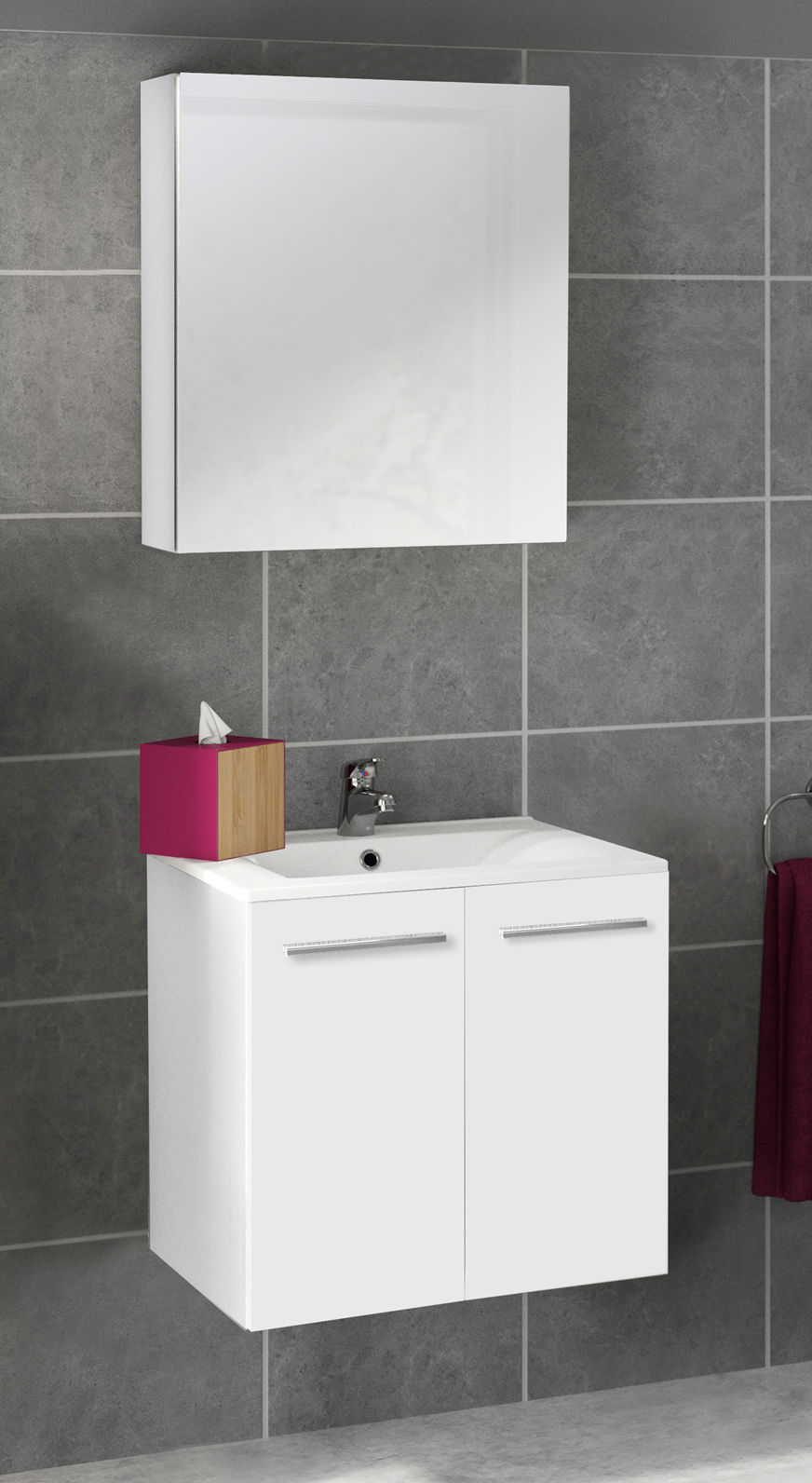 meuble sous vasque 2 portes 60 cm s rie adesio 3. Black Bedroom Furniture Sets. Home Design Ideas
