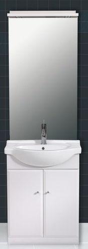 meuble salle de bains avec miroir clairage tablette plan cramique et meuble 2 portes. Black Bedroom Furniture Sets. Home Design Ideas